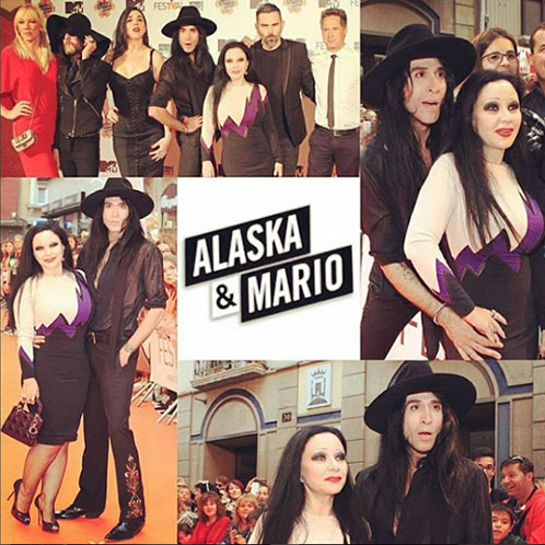 En el estreno en Vitoria. Fotos: IG @alaskaoficial