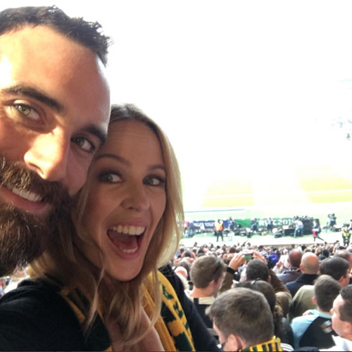 En la final del Mundial de Rugby. IG @kylieminogue