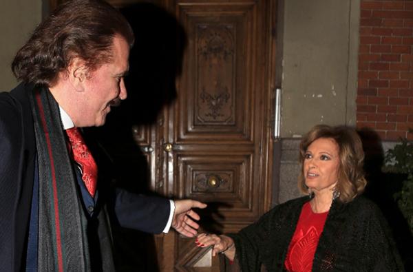 María Teresa Campos con Bigote Arrocet. © Gtres