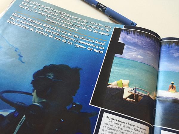 También hicieron submarinismo. © Ejemplar de 'Hola' de Rosy