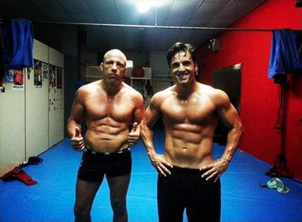 Con su entrenador. Foto: Instagram