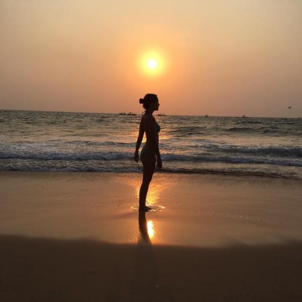 Cristina Pedroche, en una playa de la India. IG @cristinapedroche