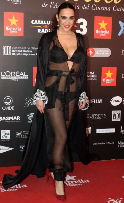 Cristina Rodríguez, hace unos días, durante los premios Gaudí 2016. © Gtres