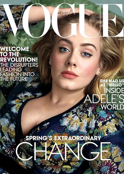 Adele, portada del número de marzo de Vogue