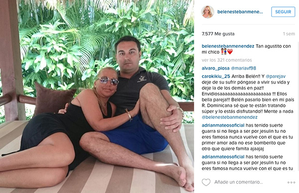 La pasada semana, de vacaciones con Miguel, su novio, al que perdonó una infidelidad que NO le contó Toño, según explica en la entrevista