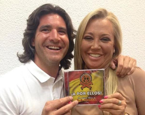 Toño Sanchís y Belén Esteban, cuando eran amigos: Foto: Facebook