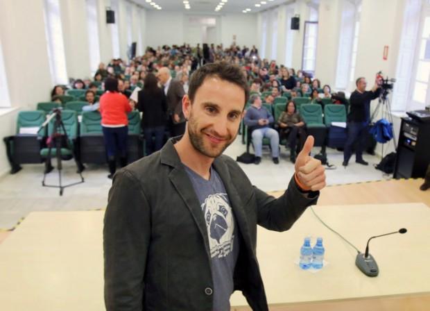 """El actor Dani Rovira durante el acto """" Palabras Mayores """" en La Térmica. © Gtres"""