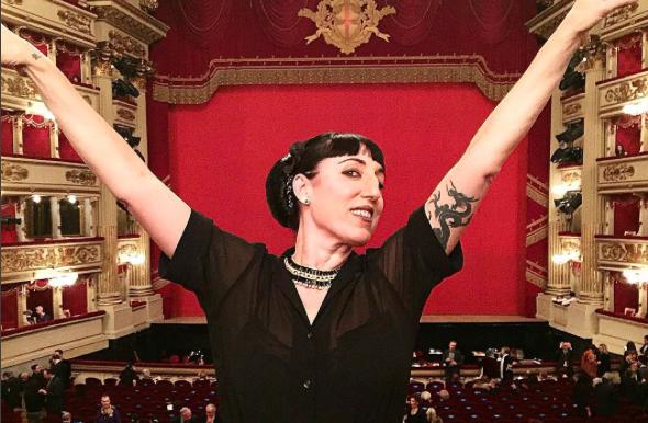 Rossy de Palma en el Teatro Español, en una foto de Instagram