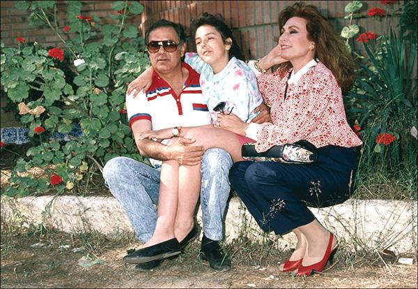 Con Pedro Carrasco y su hija, Rocío Carrasco. © Gtres