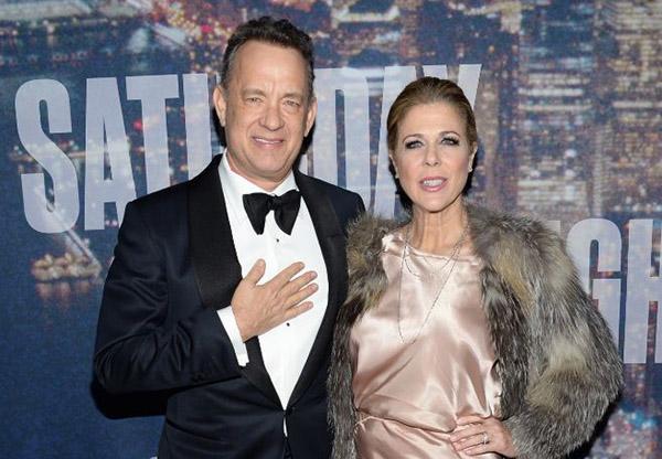 Tom Hanks y su actual esposa, Rita Wilson, que venció hace unos meses un cáncer. © Gtres
