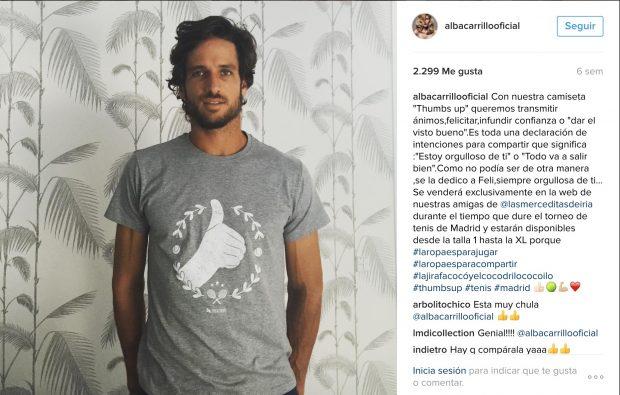 Hasta ayer hacía más de cuatro semanas que Alba no subía una foto de su marido a su Instagram