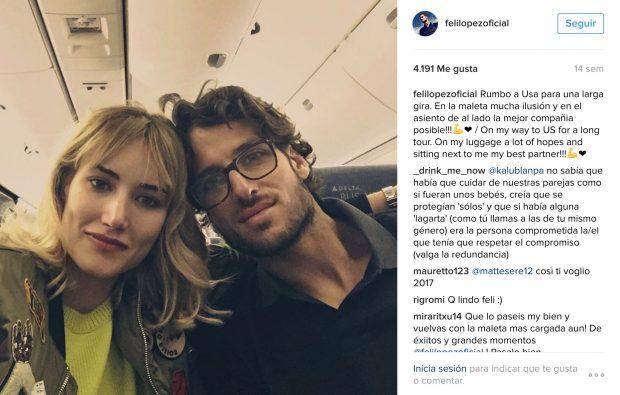 La última foto del matrimonio en el Instagram de Feliciano López