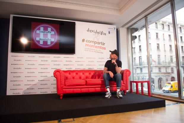 """El diseñador David Delfin durante la presentación de la capmaña """" Compartir Momentos """" Madrid. 15/09/2016"""