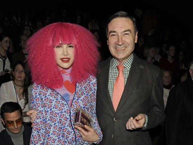 Pedro J con su hija Cósima encargada de las relaciones internacionales de Ágatha Ruíz de la Prada