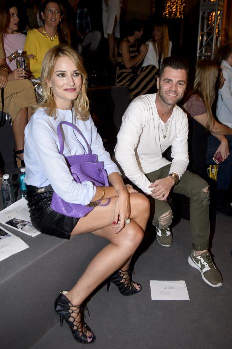 """El ex piloto Fonsi Nieto y  la modelo Alba Carrillo durante la 3 edición del Salón de Moda Infantil """"The Petite Fashion Week"""" en Madrid Madrid 06/10/16"""