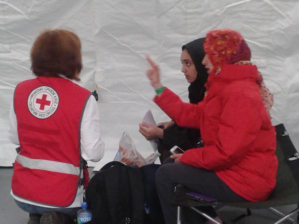 Asistencia sanitaria a una refugiada siria