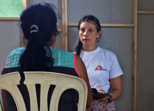 Médicos Sin Fronteras (MSF) ofrece atención primaria y apoyo psicológico a los colombianos que han sido deportados o han regresado en las últimas semanas desde Venezuela. Foto MSF.