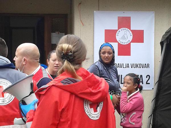 Puesto de Salud de la Cruz Roja Croata en Opatovac