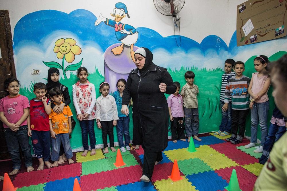 Plan International trabaja en Egipto para proteger los derechos de los niños niñas refugiados sirios. Copyright Plan International v2