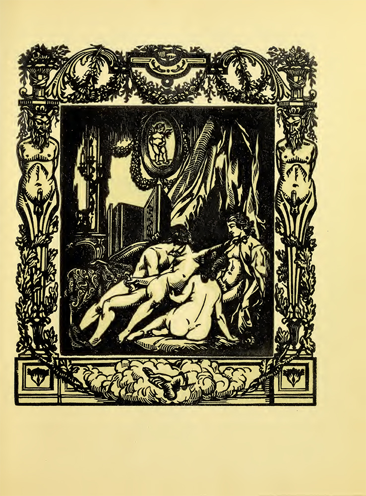 Ilustración de Célio para 'Les amis du crime', del Marqués de Sade - Wellcome Sexology Collection