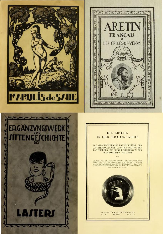 Cuatro de los libros de la Wellcome Sexology Collection