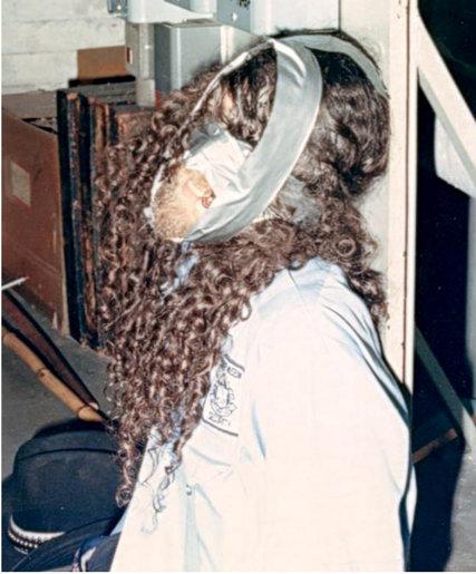 Richard Abath fue encontrado así por la Policía - Foto del libro 'Master Thieves', de Stephen Kurkjian