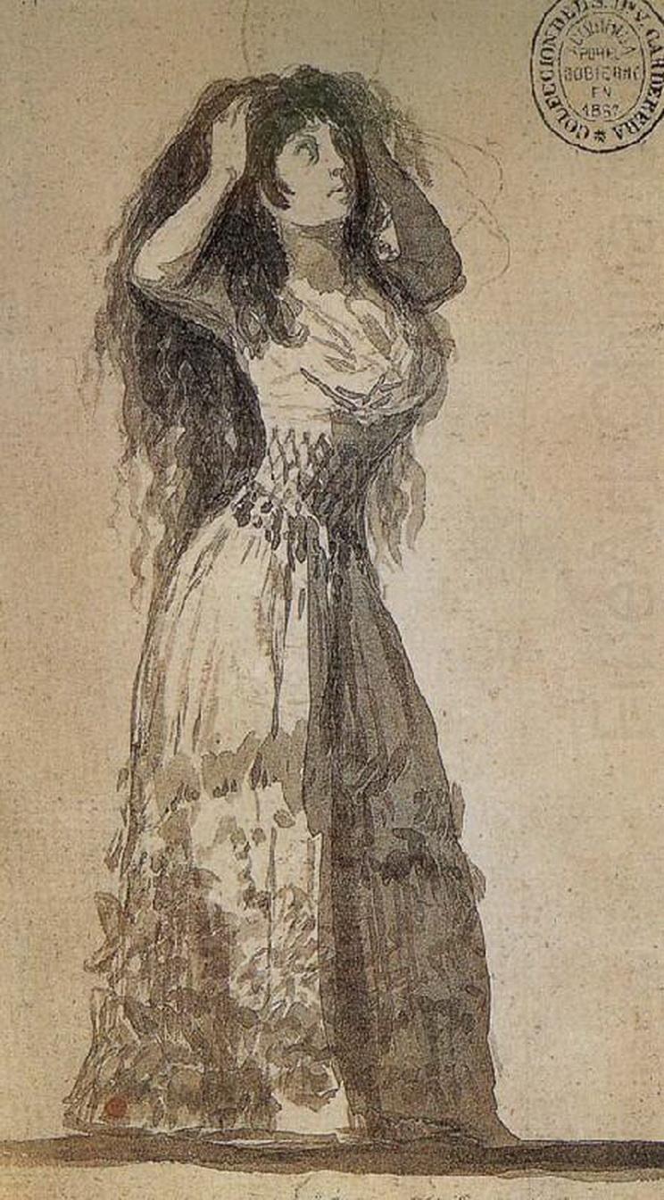 """""""Duquesa de Alba peinándose"""" (Goya, 1796)"""