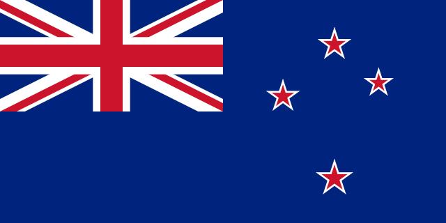 Bandera actual de Nueva Zelanda