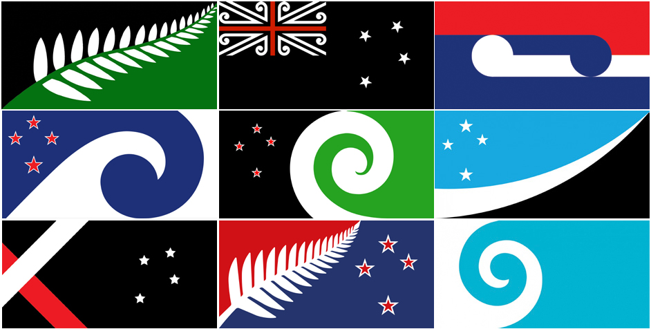Diseños propuestos para la nueva bandera de Nueva Zelanda