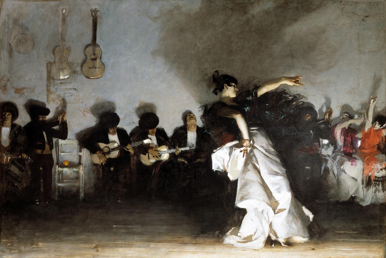 """""""El jaleo"""" (1882) - John Singer Sargent (Dominio público)"""