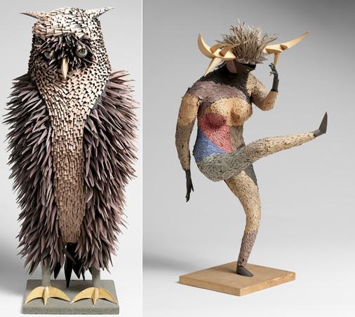 Esculturas de Harper - Foto de D. James Dee para el libro 'Irving Harper Works in Paper', de la editorial Rizzoli