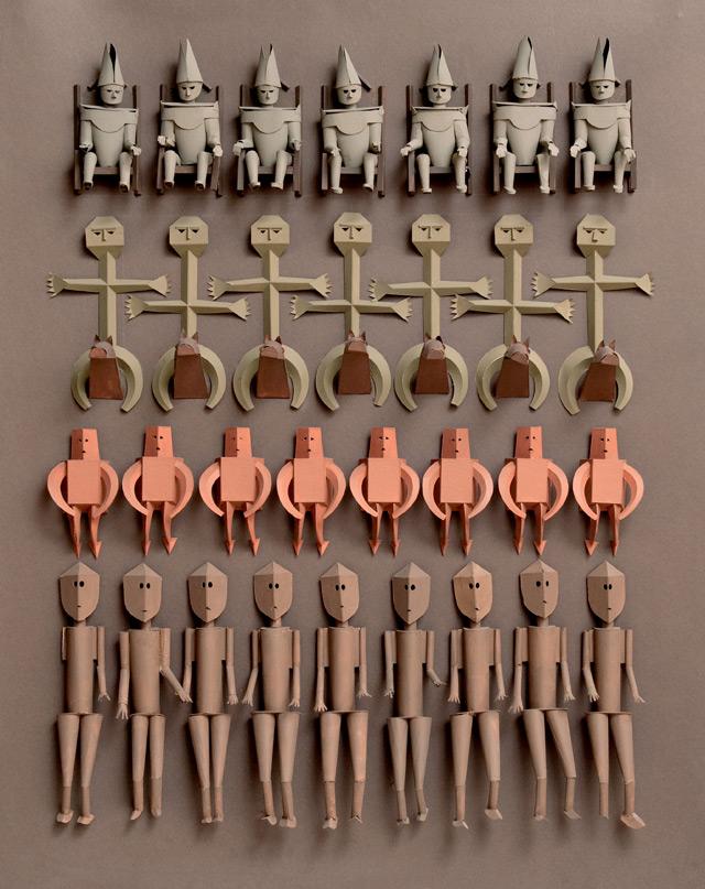 Esculturas de Harper catalogadas en el libro 'Irving Harper Works in Paper', editado por Rizzoli