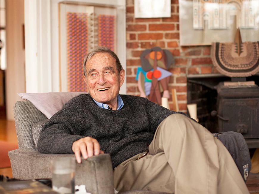 Harper en su casa de Rye, Nueva York - www.hermanmiller.com