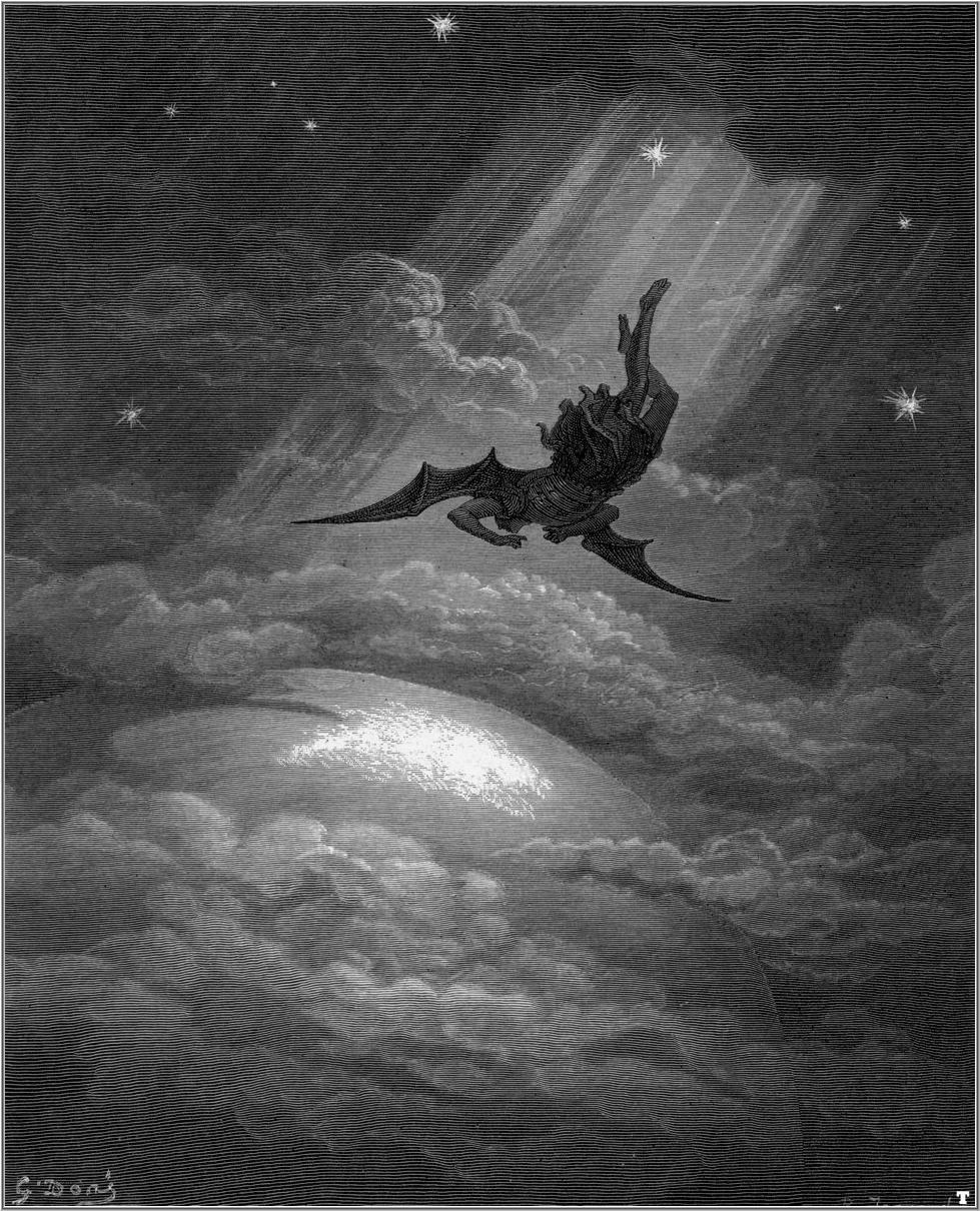 Ilustración de Gustave Doré para 'El Paraíso Perdido' - Dominio público