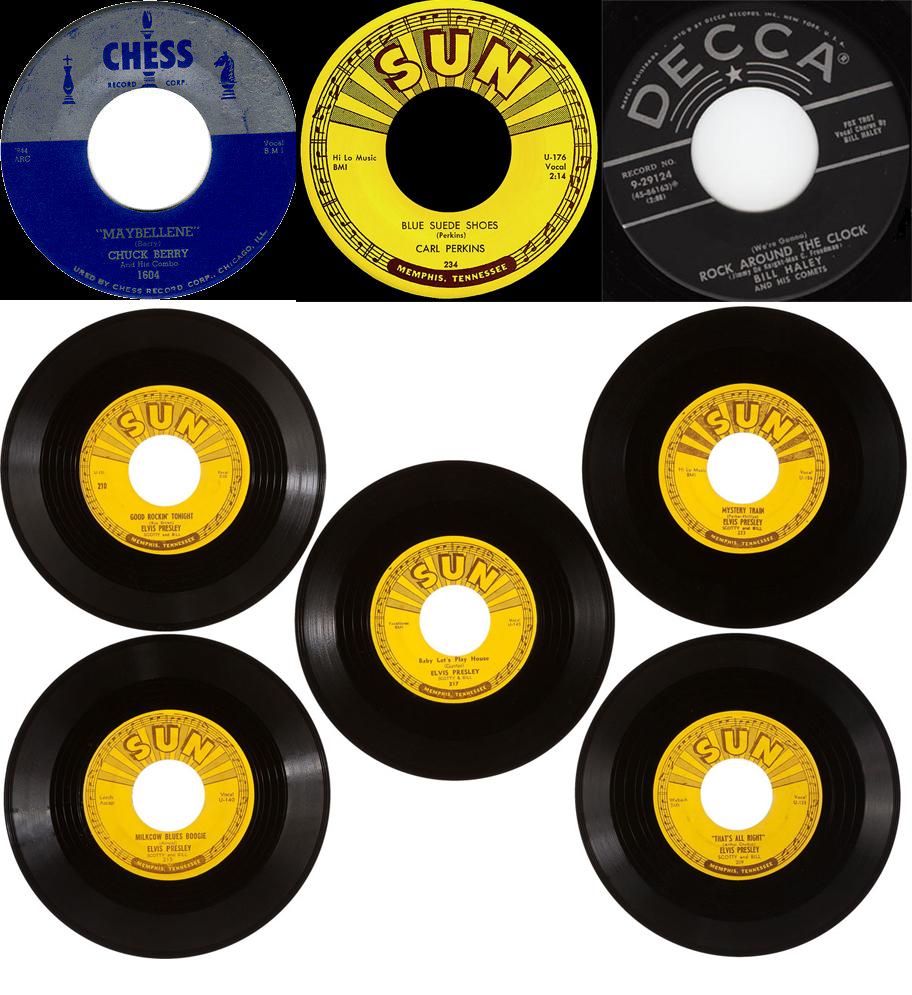 Algunos discos editados en 1955