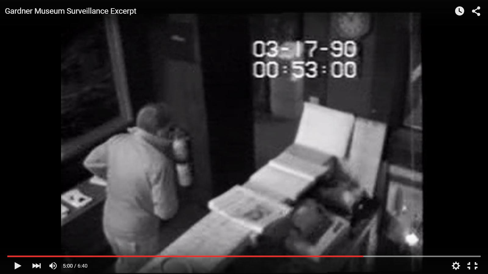 Captura del vídeo difundido por la Fiscalía de Massachusetts