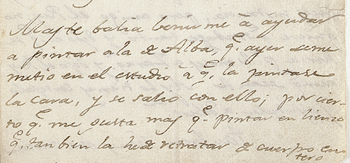 Carta de Goya (detalle)