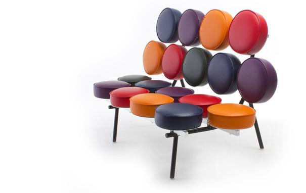 el sofá 'Marshmallow' que Irving Harper diseñó para la compañía Herman Miller