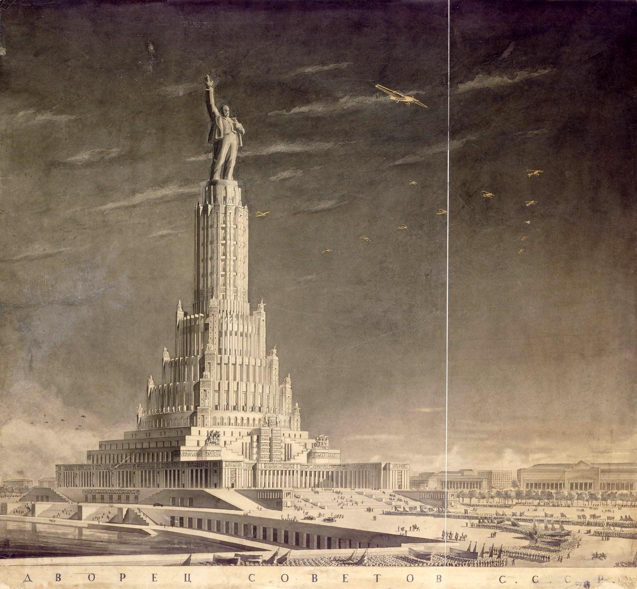 Palacio de los Soviets. Proyecto de Boris Iofan, 1937 (Foto: dominio público)