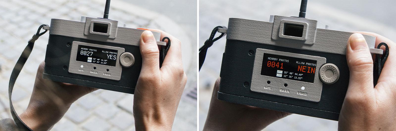 La cámara de 'Camera restricta' bloqueada y sin bloquear - Foto: philippschmitt.com