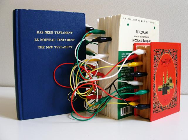 "MOUNIR FATMI - ""Connexion (Noveau Testament)"", 2004–07 - Courtesy Mounir Fatmi: FNAC, France, Thames & Hudson"