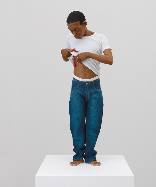 """RON MUECK - """"Youth"""", 2009 - Courtesy the artist, Anthony d'Offay, London and Hauser & Wirth and Thames & Hudson Photo: Alex Delfanne. © Ron Mueck"""