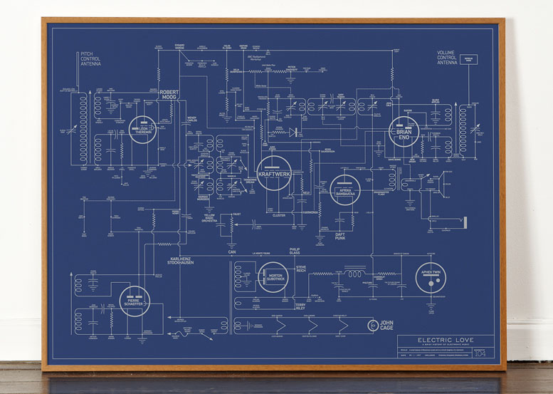 """Electric Love Blueprint"" © Dorothy"