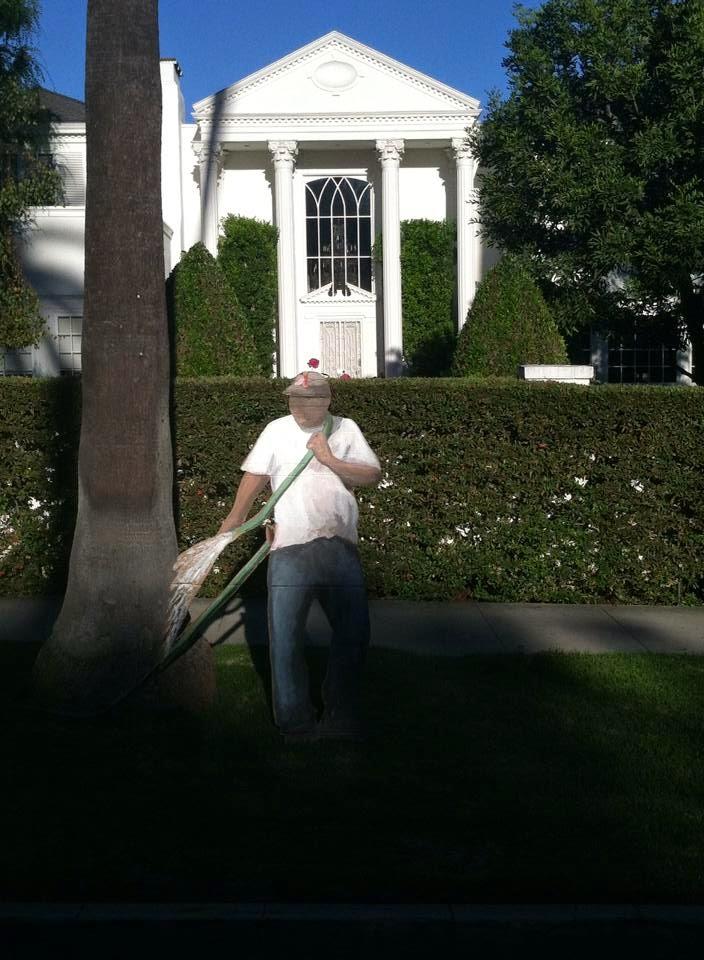 Beverly Hills cardboard cutout - Ramiro Gomez Jr.