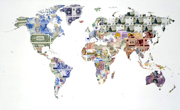 'Money Map of the World' - Justine Smith