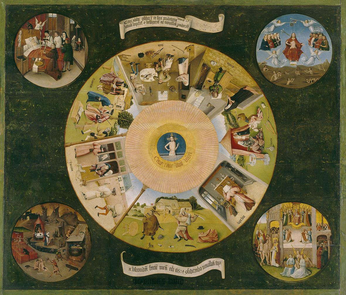 """""""Mesa de los pecados capitales"""" - El Bosco (Imagen: Museo del Prado)"""