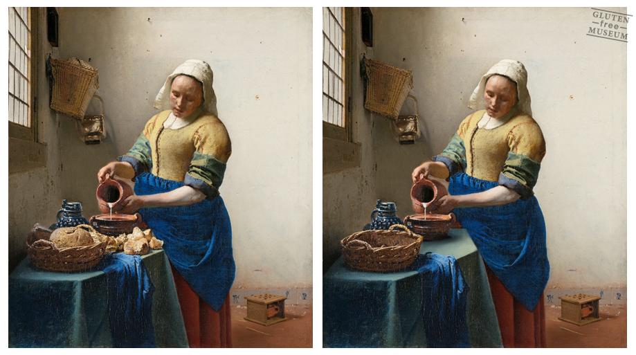 """""""La lechera"""", de Vermeer y su versión libre de gluten (Arthur Coulet - Gluten Free Museum)"""