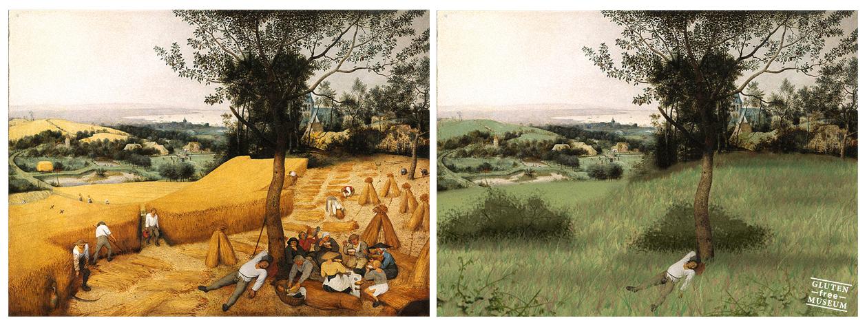 'The Harvesters' de Pieter Bruegel y su versión libre de gluten (Arthur Coulet - Gluten Free Museum)