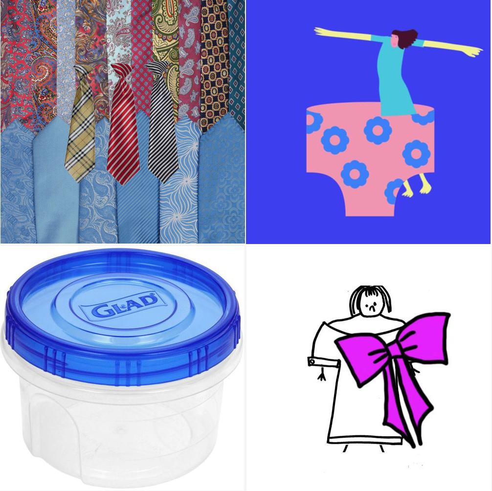 Corbatas, un vestido de señora, tuppers y lencería extragrande, cuatro de los regalos del proyecto GIFt