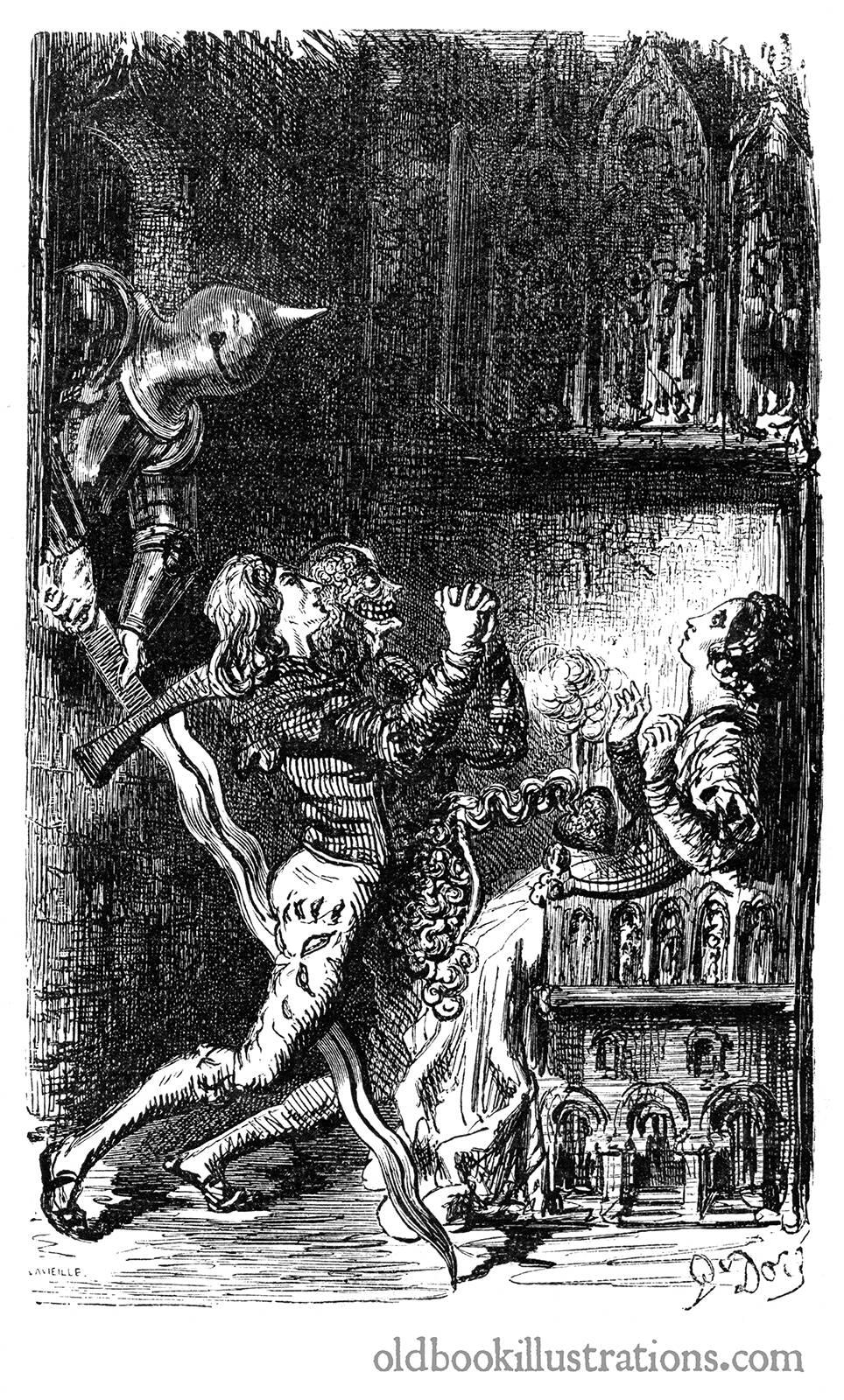 'El amante partido en dos', de Gustave Doré